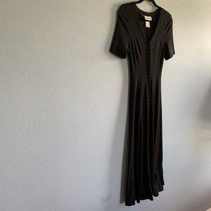 Diane Von Furstenberg Dresses - Vintage Diane Von Furstenberg Black Maxi Dress